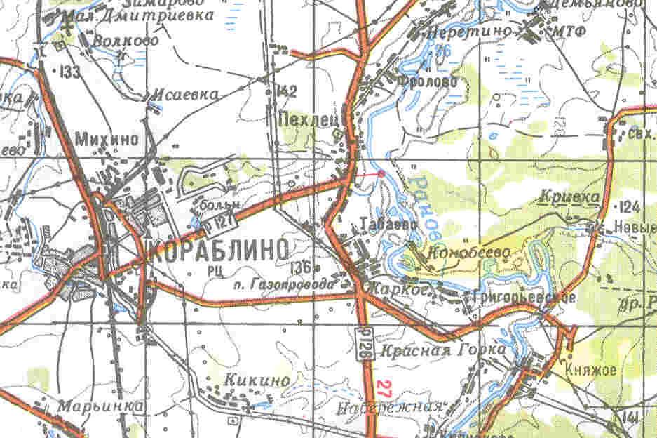 стариные карты велая лука кораблинский р-он которых